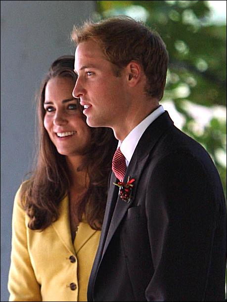 prince william and kate. The first time Prince William