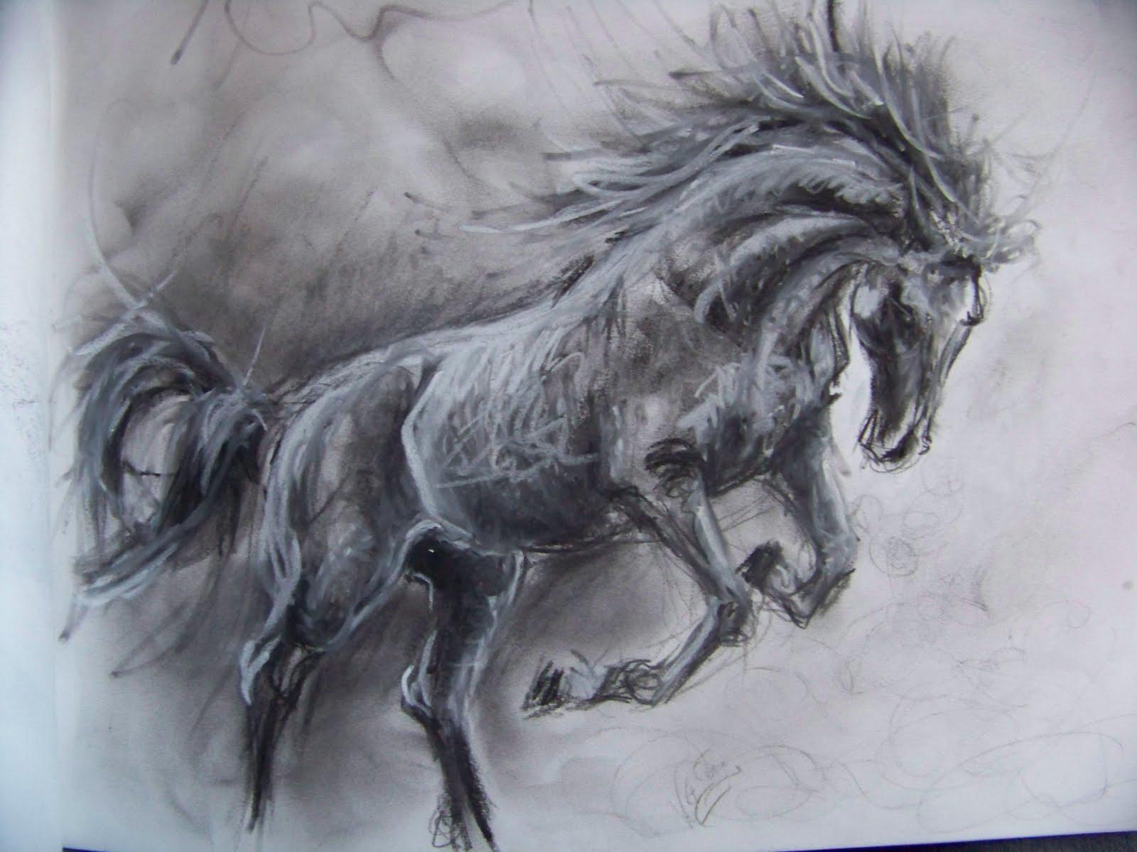 L 39 art autour du cheval - Dessin de cheval magnifique ...