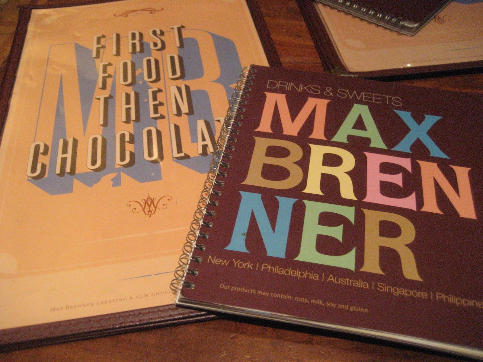 max brenner philadelphia menu