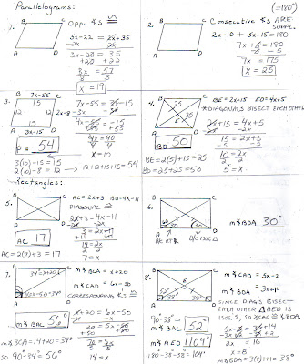 Quadrilateral Parallelogram Definition Hornell Math AB...