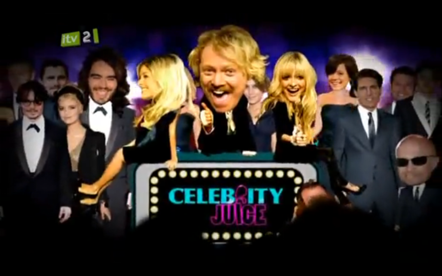 Celebrity juice n dubz special with tuliza wearing liquorish