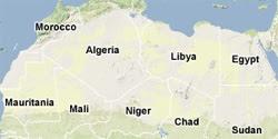 Mappa del Sahara