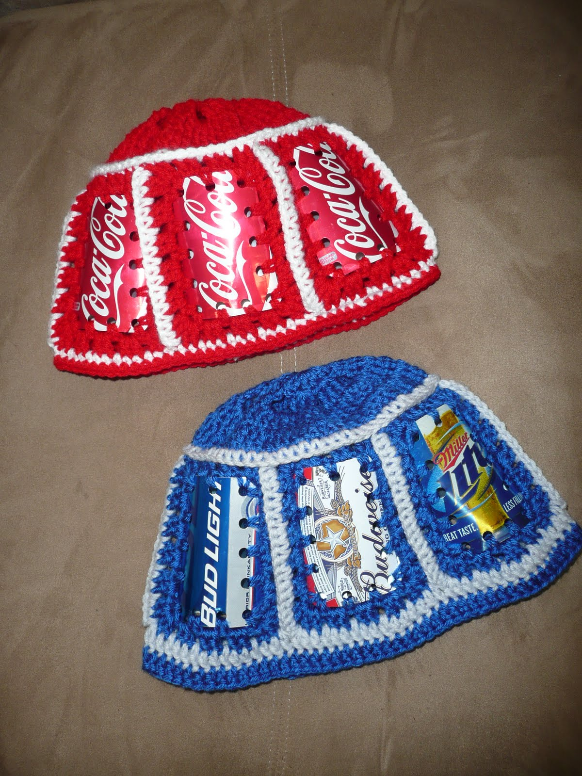Would like a crochet pattern to make a cowboy beer can hat; Thanks