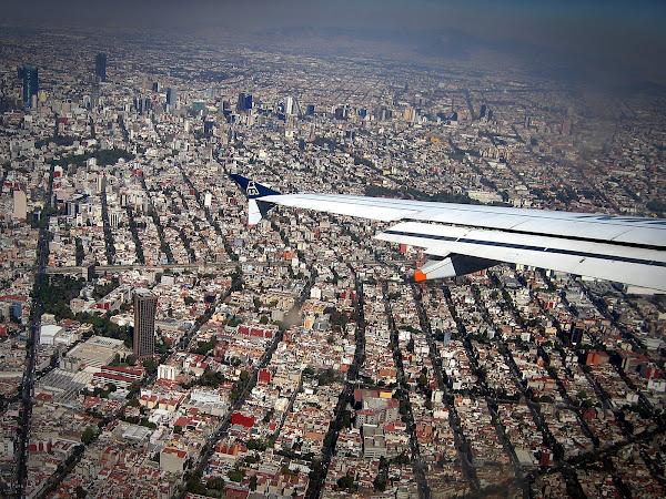 Meksiko miestas is dangaus
