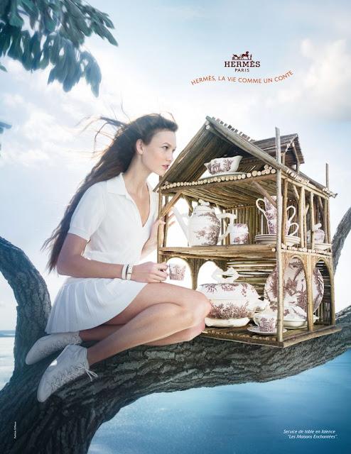 Модель Карли Клосс (Karlie Kloss) для рекламы Hermès.