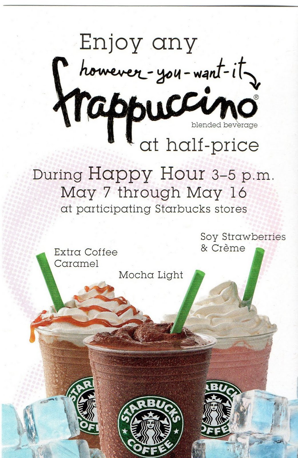 Happy Hour Starbucks Prices Starbucks Happy Hour 50 Off