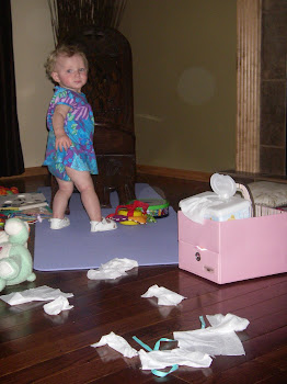 No Mom, I didn't pull all those wipes out!