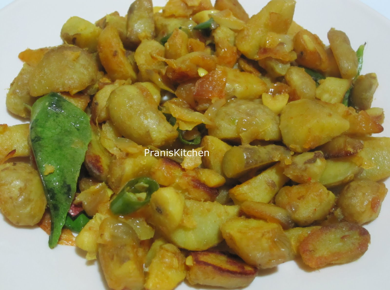 Praniskitchen recipes for food lovers try it you ll love it koorka mezhukkupirattichinese potato stir fry and award forumfinder Images