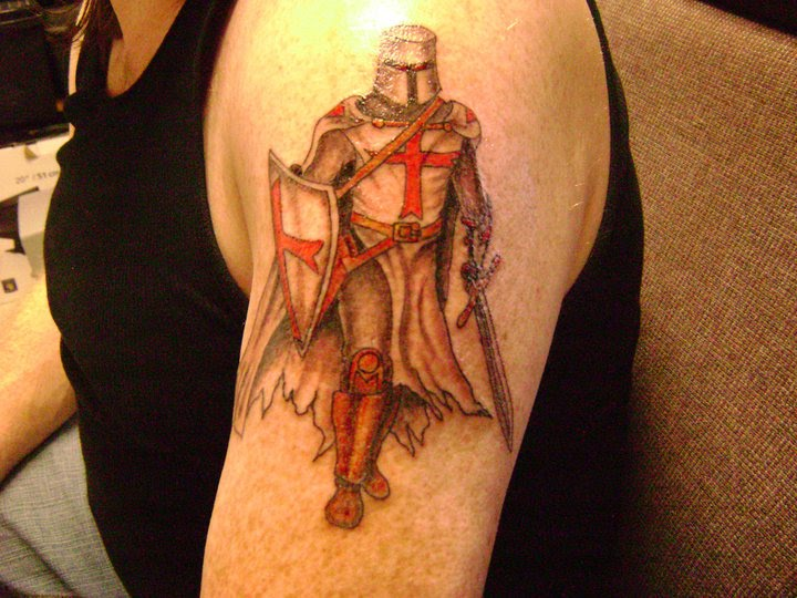 knights templar crusader knight tattoo rate my ink. Black Bedroom Furniture Sets. Home Design Ideas