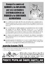 Marcha y escrache, Jueves 29 de Mayo