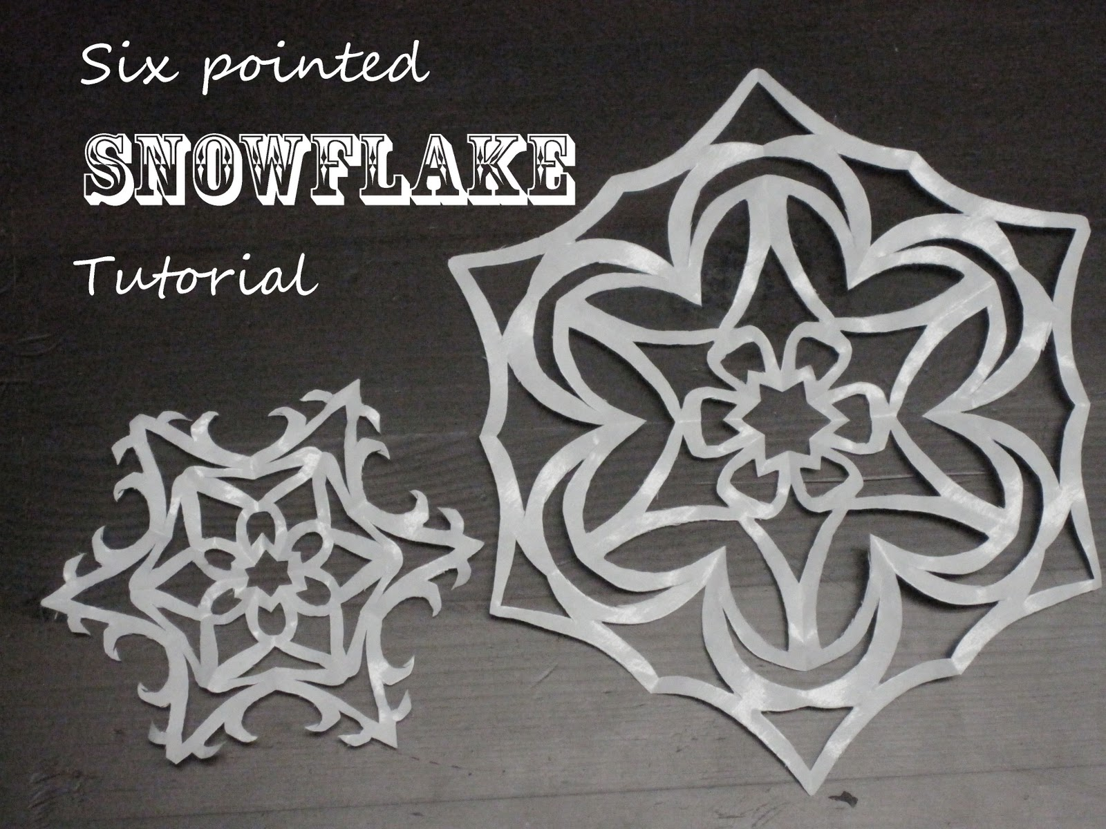 how to make beautiful six pointed paper snowflakes