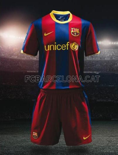 el nuevo uniforme del fc barcelona temporada 2010-11
