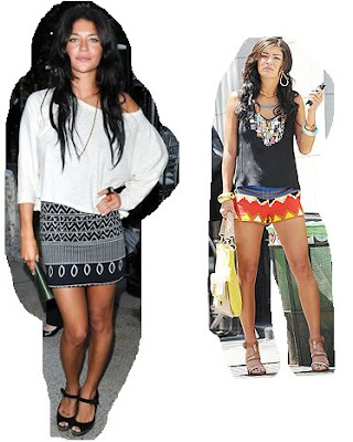 Jessica Szohr loves her Tribal Print and has often been spotted wearing the