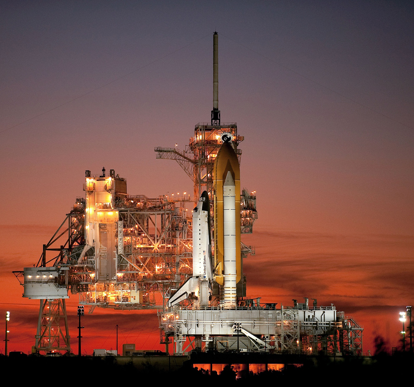 Jean-Baptiste Faure: STS-129 Space Shuttle Atlantis on Pad 39A
