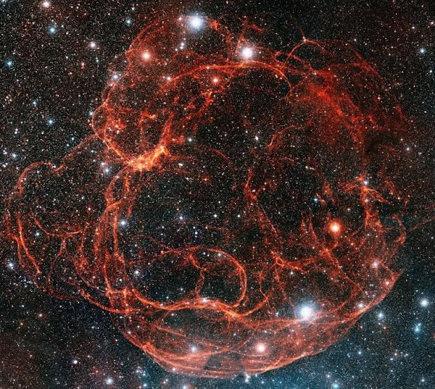 Supernova remnant Simeis 147 in constellation Taurus