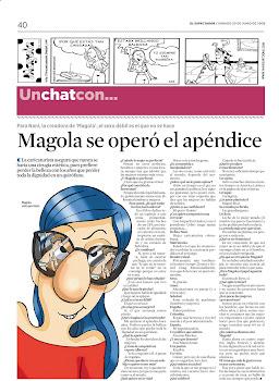 Un chat con Magola en el Espectador