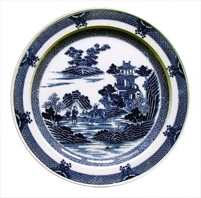 Meakin Staffordshire Fair Winds Blue at Big Ed's Royal China