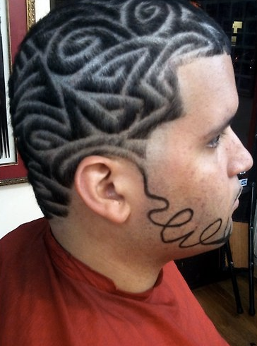 Barber hair designs for black men