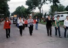 FIESTA DE COLONIA VALDENSE, DESFILE DE INSTITUCIONES. NOVIEMBRE 2009. CALLE 11 DE JUNIO. LICEO DAU