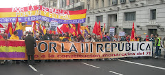 MAS DE 5.000 MANIFESTANTES EN MADRID POR LA IIIa,REPUBLICA Y CONTRA EL REY FASCISTA