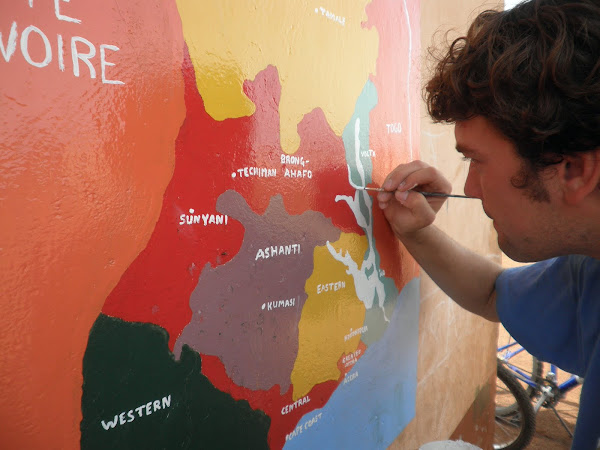 We also painted a Ghana Map