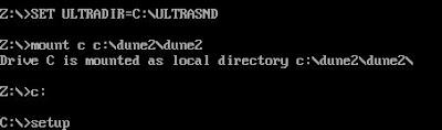 DOS setup command