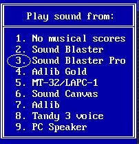 Choosing the sound card