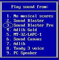 Choosing the sound card