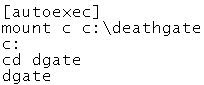 Reediting autoexec commands