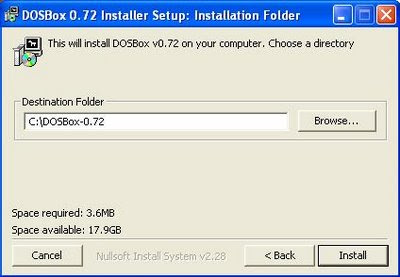 Dosbox install program