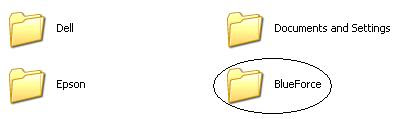 Blue Force Windows folder
