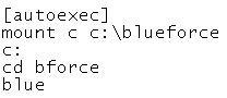 Dosbox autoexec mount commands