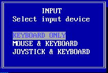 Selecting input device