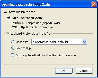 Saving the zip file