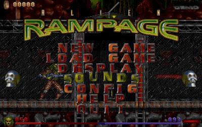 Alien Rampage menu screenshot