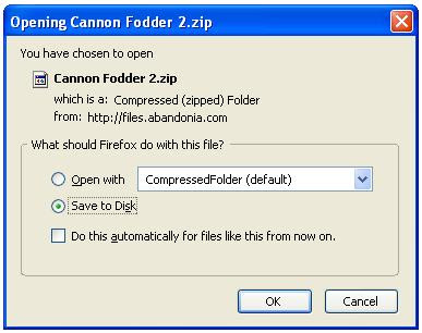 Saving the zip file