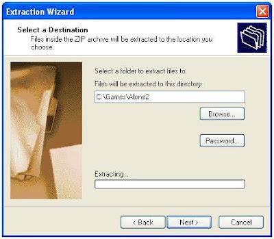 Zip file extraction program