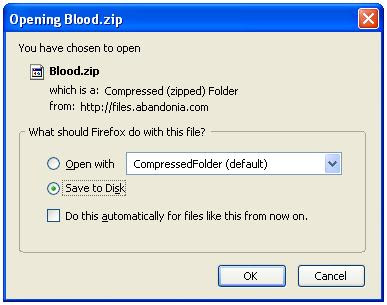 Saving Blood zip file