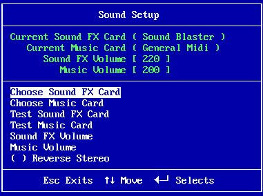 Choose sound FX card
