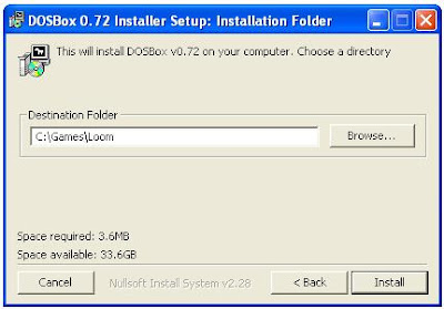 Dosbox install program
