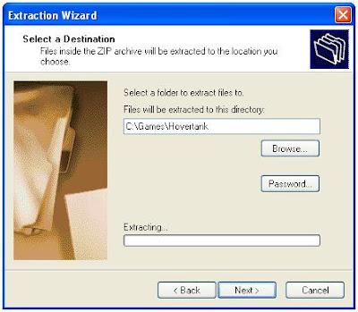 Zip extraction program