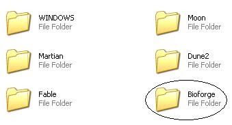 Bioforge Windows folder
