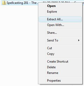 Extracting the Spellcasting 201 file