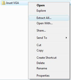 Extracting the game file