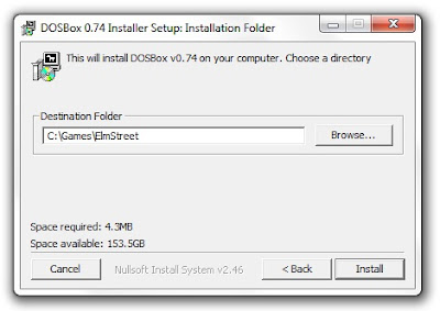 Dosbox installer program