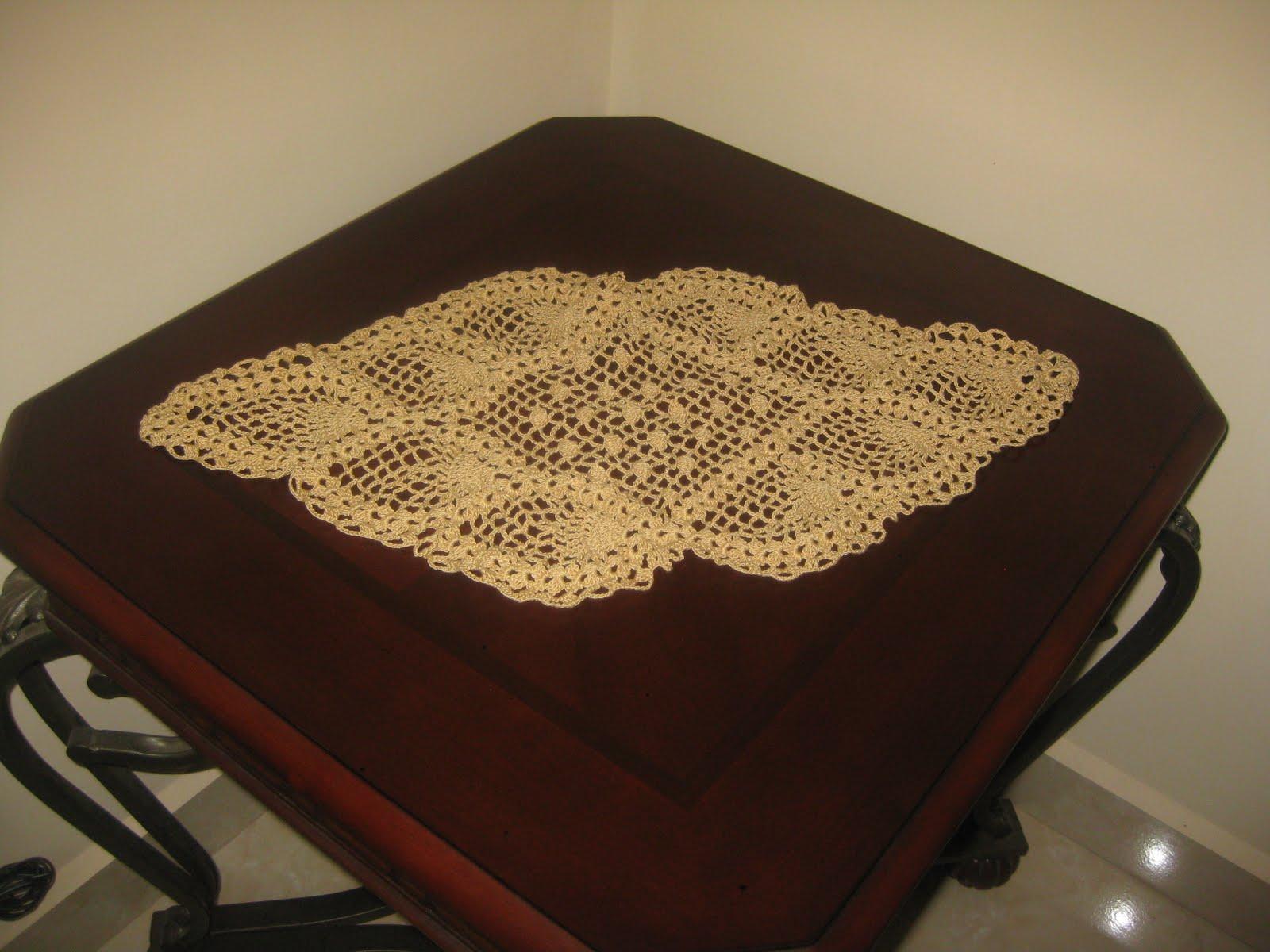 Mis tejidos y algo mas camino de mesa tejido en crochet for Caminos para mesas