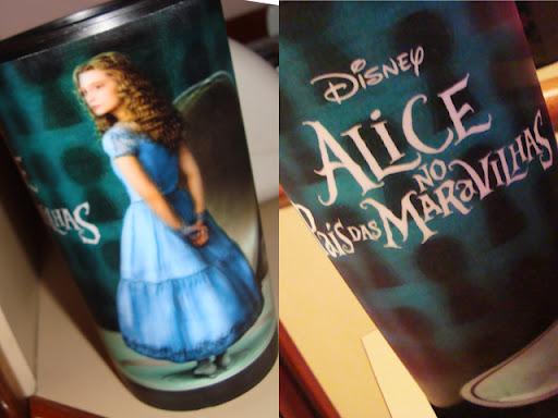 Alice no País das Maravilhas-copo Cinemark