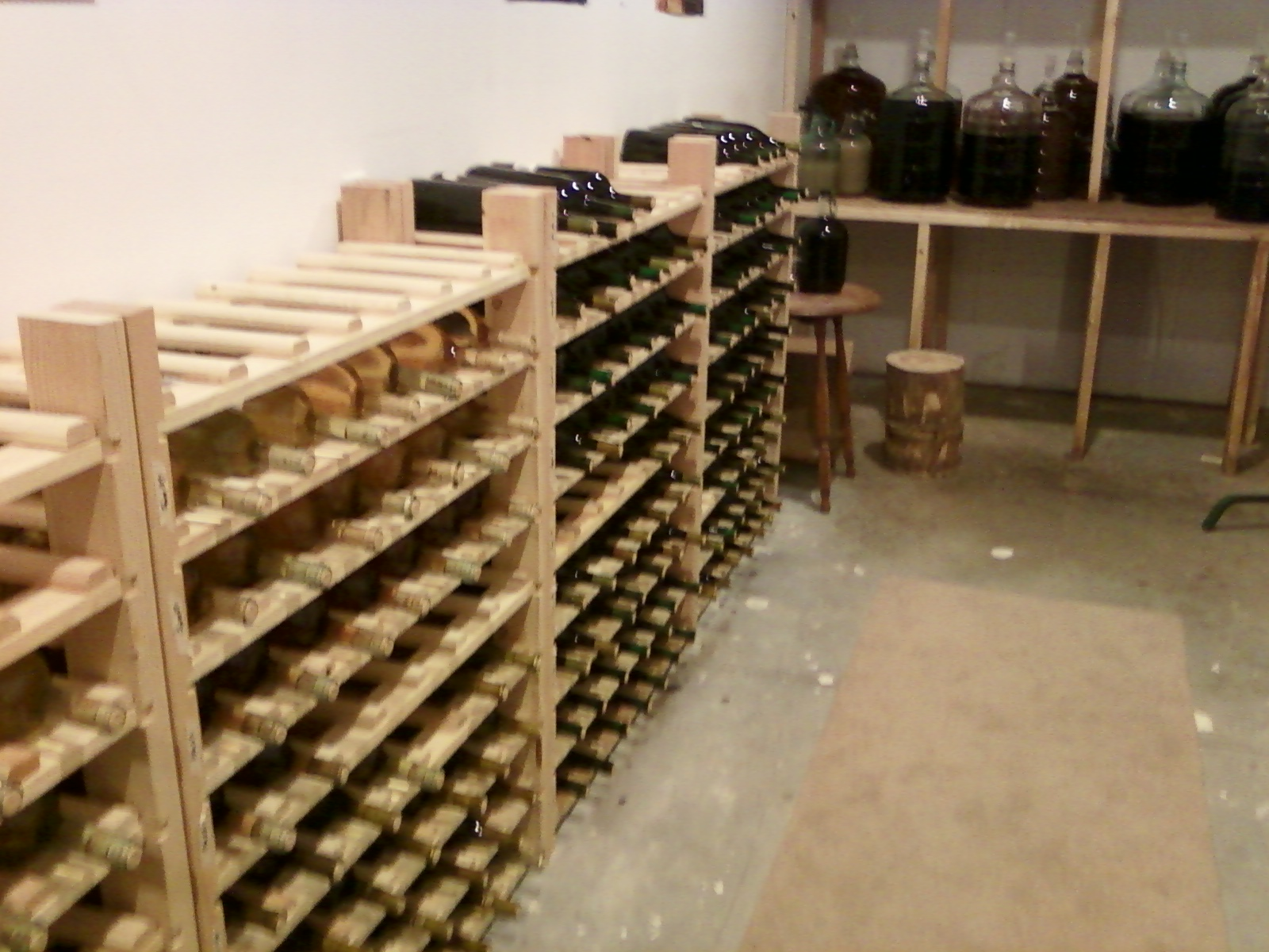 Homemade wine cellar