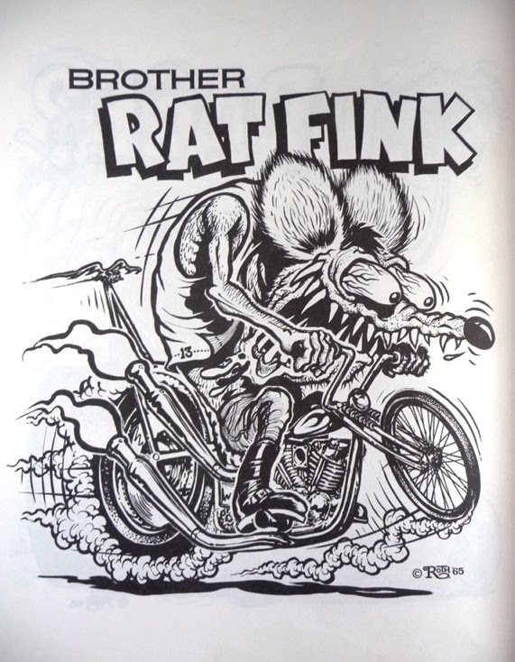 Nostalgia On Wheels 1960 S Rat Fink Monster Coloring Book Rat Fink Coloring Pages