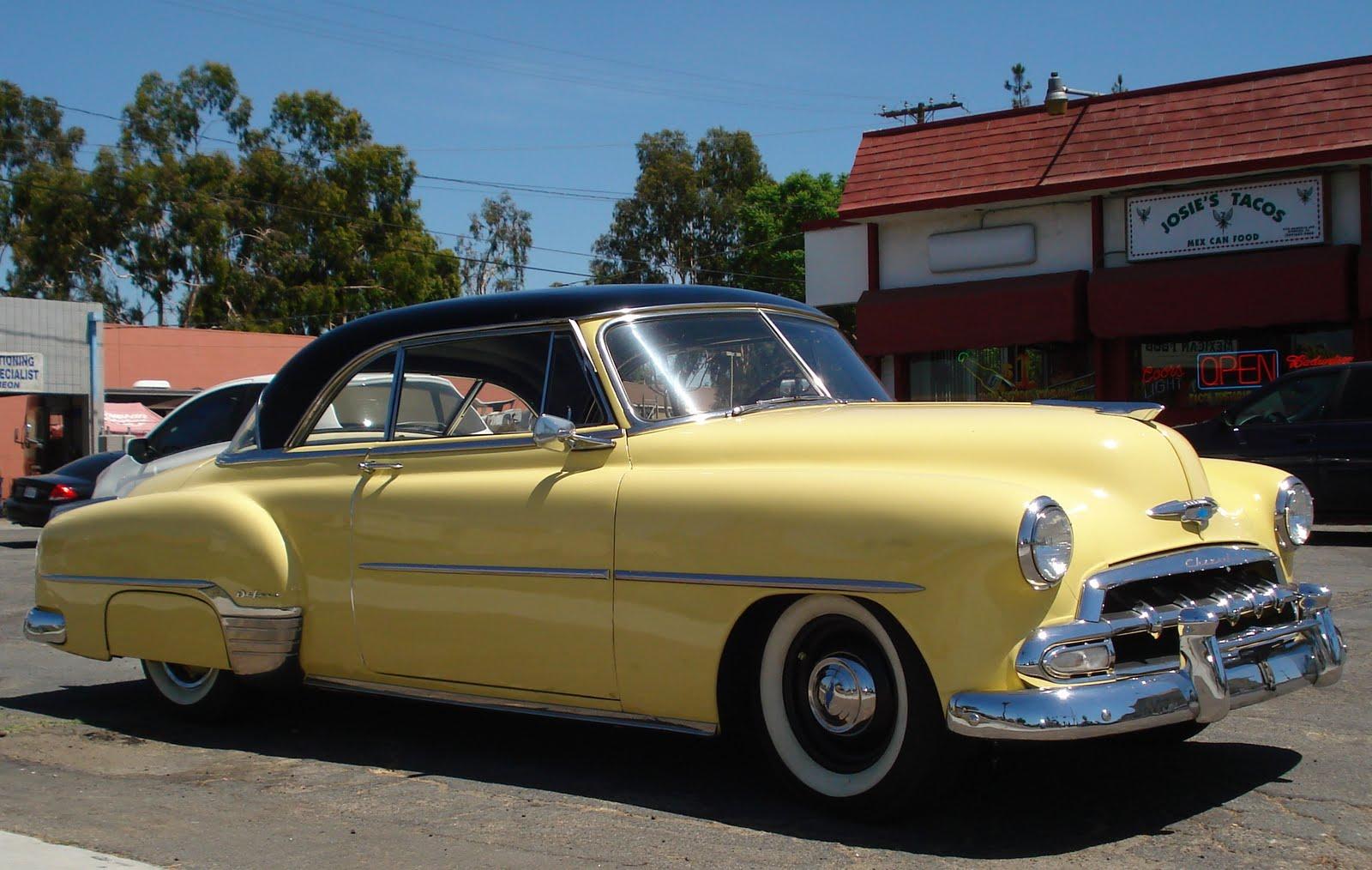 Nostalgia on wheels 1952 chevy bel air
